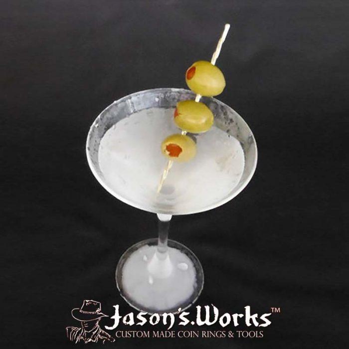 18k Gold Martini Olive Swizzle Pick