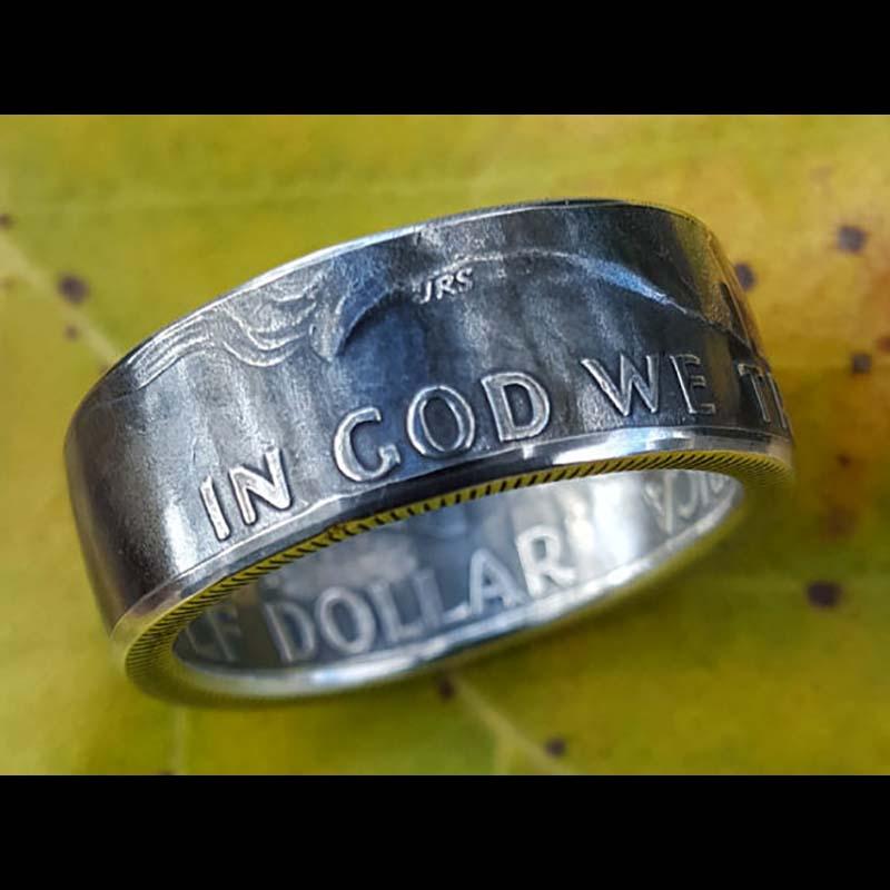 Ben Franklin Silver Coin Ring 3