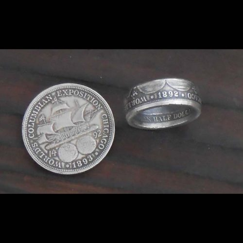 Columbian Exposition Silver Coing Ring