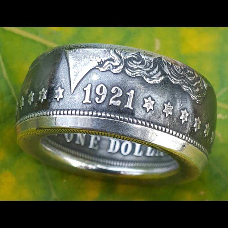 Morgan Silver Dollar Coin Ring