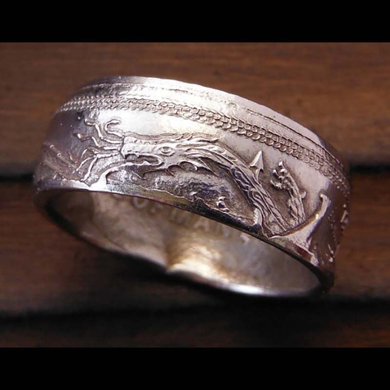 Platinum Isle of Man Angel Coin Ring