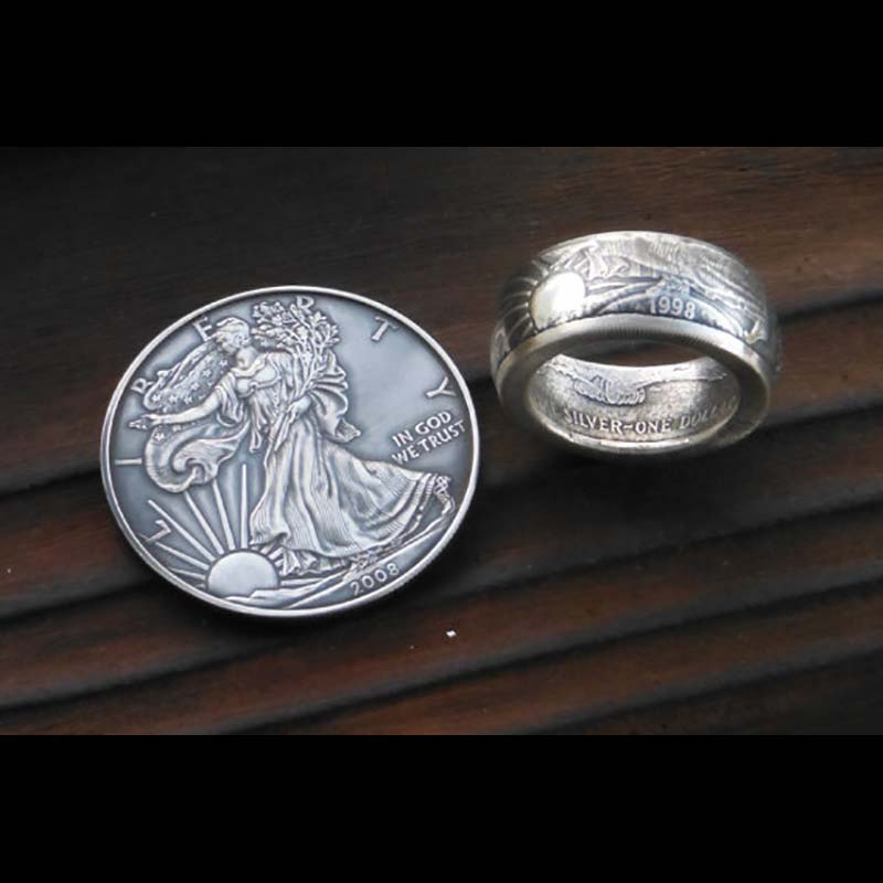 United States Silver Eagle Coin Ring