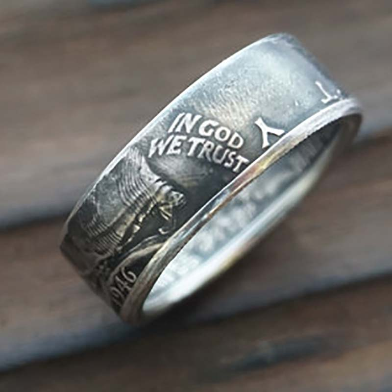 Walking Liberty Silver Coin Ring