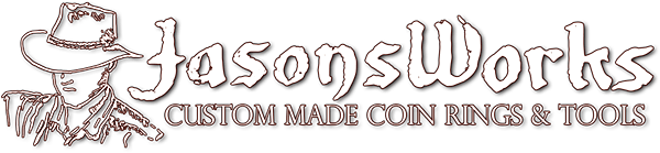 Coin Ring Tools & Custom Made Coin Rings – Jason's Works Logo