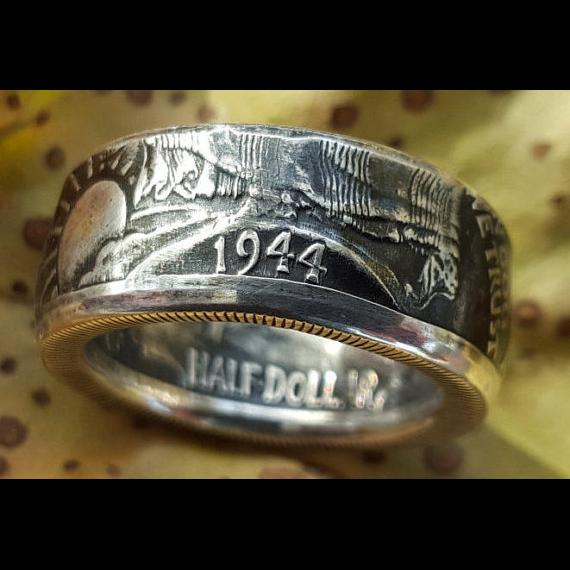 USA Coin Rings Online - Silver Coin Ring Walking Liberty - Jason's Works