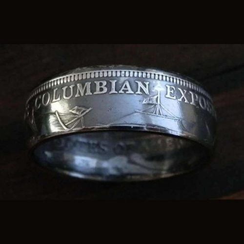 Silver Angel Coin Ring Isle of Man - Jason's Works - USA Coin Rings