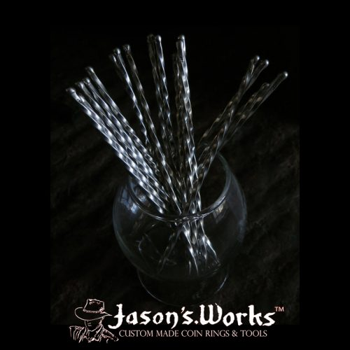 Silver Martini Olive Swizzle Pick - Jason's Works - Coin Rings & Tools