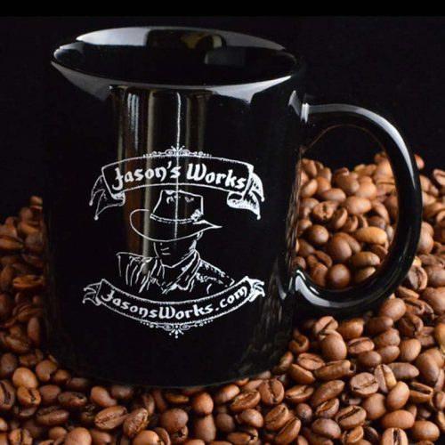 Jasons Works Coffee Mug - Custom Coin Rings & Tools - Jason's Works