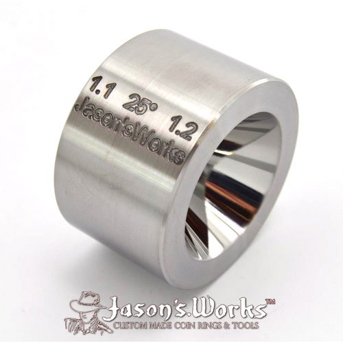 "Universal ""Fat Tire Look"" Reduction Die - Coin Ring Tools - Jason's Works"