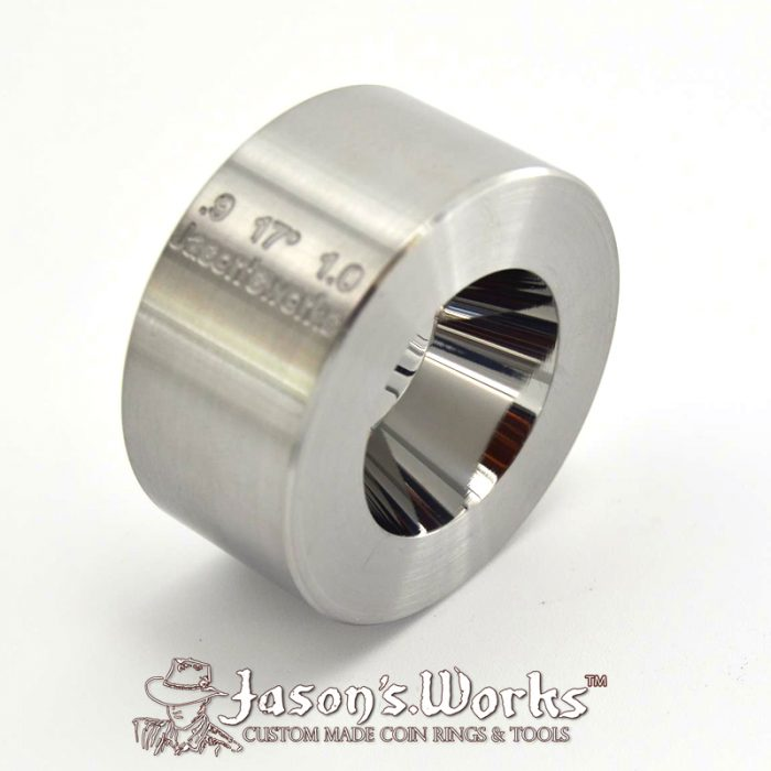 "One Universal Folding/Reduction Die Hardened Stainless Steel .9"" x 1.0"" @ 17 degrees"