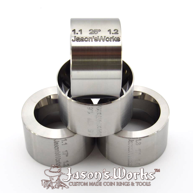 Reduction Folding Dies (4 Pack) - Coin Ring Tools - Jason's Works