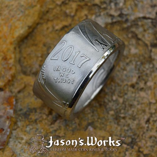 Platinum American Eagle Coin Ring