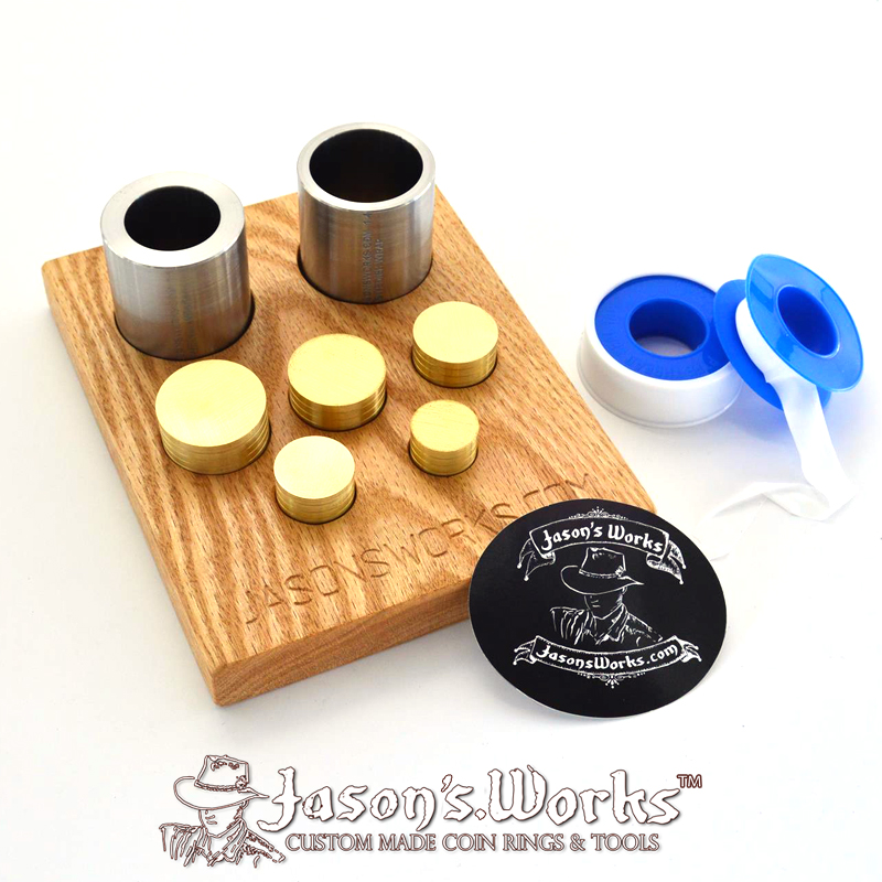 Coin Ring Swedish Wrap Kit Dollar & 1/2 Sized Dollar - Jason's Works