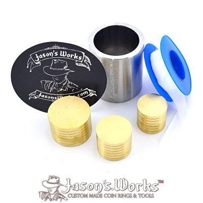Coin Ring Swedish Wrap Kit for Dollar Sized Coins - Jason's Works