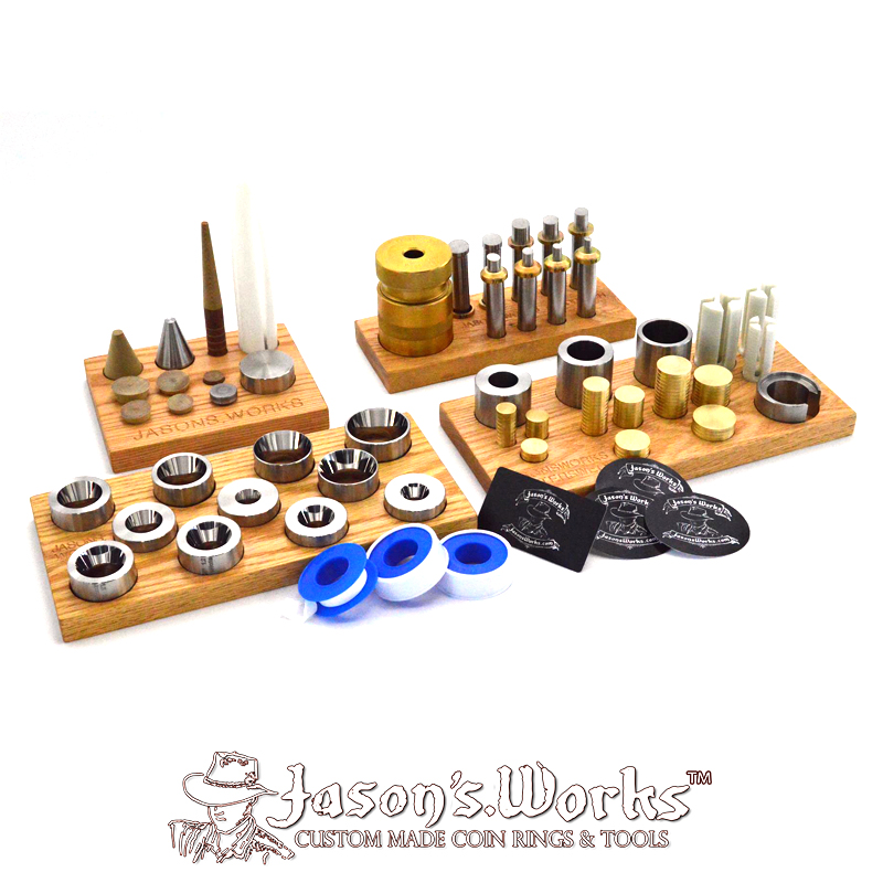 Coin Ring Making Kit Complete Set - Master Deluxe Kit - Jason's Works